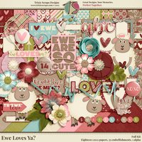 Ewe Loves Ya? Digital Scrapbooking Kit - Valentine's Day Love