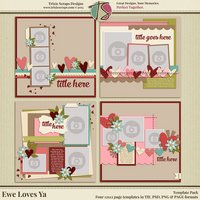 Ewe Loves Ya? Digital Scrapbooking Templates - Valentine's Day Love