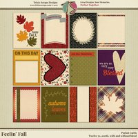 Feelin' Fall Digital Scrapbooking Pocket Cards