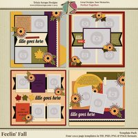 Feelin' Fall Digital Scrapbooking Templates