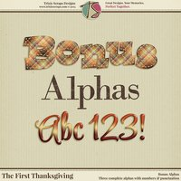 The First Thanksgiving Digital Scrapbooking Bonus Alphas