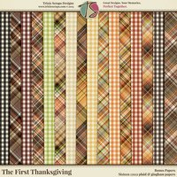 The First Thanksgiving Digital Scrapbooking Bonus Papers