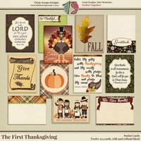 The First Thanksgiving Digital Scrapbooking Pocket Cards