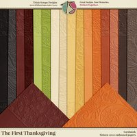 The First Thanksgiving Digital Scrapbooking Cardstock