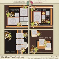 The First Thanksgiving Digital Scrapbooking Templates