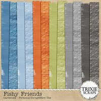 Fishy Friends Digital Scrapbooking Cardstock Pack Disney Vacation