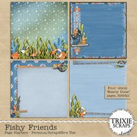 Fishy Friends Digital Scrapbooking Page Starters Disney Vacation