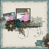 Frosted Windowpanes Digital Scrapbooking Cardstock