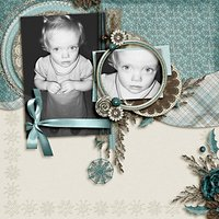 Frosted Windowpanes Digital Scrapbooking Full Kit Christmas