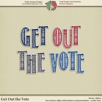 Get Out the Vote Digital Scrapbooking Bonus Alphas