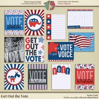 Get Out the Vote Digital Scrapbooking Pocket Cards