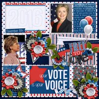Get Out the Vote Digital Scrapbooking Kit