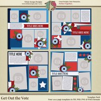 Get Out the Vote Digital Scrapbooking Templates