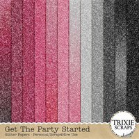 Get the Party Started Digital Scrapbooking Glitter Papers