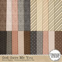 God Gave Me You Digital Scrapbooking Bonus Papers