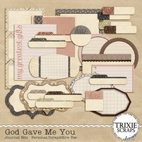 God Gave Me You Digital Scrapbooking Journal Bits