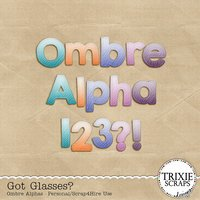 Got Glasses? Digital Scrapbooking Bonus Ombre Alphas