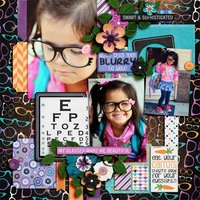 Got Glasses? Digital Scrapbooking Full Kit Eye Doctor Geek Girls