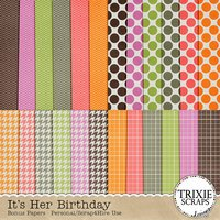 It's Her Birthday Digital Scrapbooking Bonus Papers