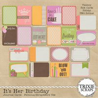 It's Her Birthday Digital Scrapbooking Journal Cards