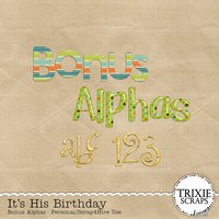 It's His Birthday Digital Scrapbooking Bonus Alphas