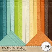 It's His Birthday Digital Scrapbooking Cardstock