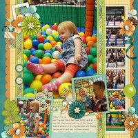 It's His Birthday Digital Scrapbooking Full Kit Happy Balloons Cake
