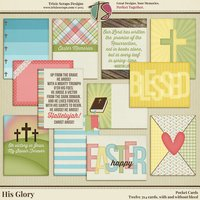 His Glory Digital Scrapbooking Pocket Cards - Easter Faith Religious