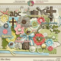 His Glory Digital Scrapbooking Kit - Easter Faith Religious
