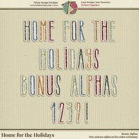 Home for the Holidays Digital Scrapbooking Bonus Alphas