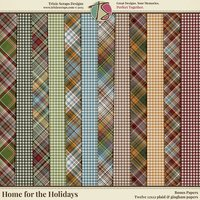 Home for the Holidays Digital Scrapbooking Bonus Papers