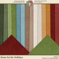 Home for the Holidays Digital Scrapbooking Cardstock