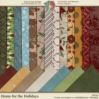 Home for the Holidays Digital Scrapbooking Kit