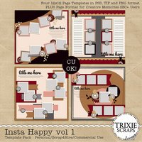 Insta Happy vol 1 Instagram Digital Scrapbooking Templates PSD/TIF/PAGE