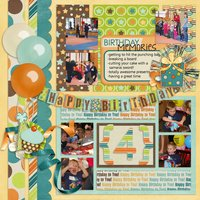 Insta Happy vol 2 Digital Scrapbooking Template Pack PSD/TIF/PAGE