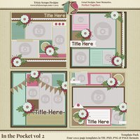 In the Pocket vol 2 Digital Scrapbooking Template Pack