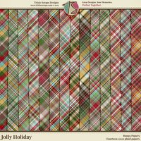 Jolly Holiday Digital Scrapbooking Bonus Papers