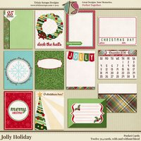 Jolly Holiday Digital Scrapbooking Pocket Cards