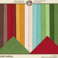 Jolly Holiday Digital Scrapbooking Cardstock