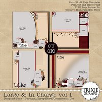 Large & In Charge Vol 1 Digital Scrapbooking Templates PSD/TIF/PAGE