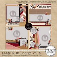 Large & In Charge vol 4 Digital Scrapbooking Templates PSD/TIF/PAGE