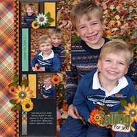 Large & In Charge vol 5 Digital Scrapbooking Template Pack