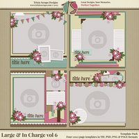 Large & In Charge vol 6 Digital Scrapbooking Template Pack