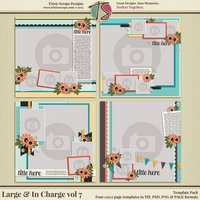 Large & In Charge vol 7 Digital Scrapbooking Template Pack