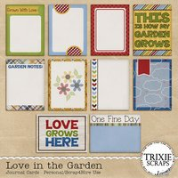 Love in the Garden Digital Scrapbooking Journal Cards