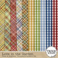 Love in the Garden Digital Scrapbooking Plaids & Gingham
