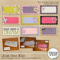 Just One Kiss Digital Scrapbooking Mini Autograph Album Disney