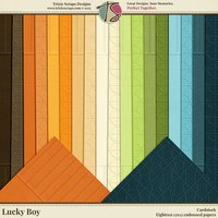 Lucky Boy Digital Scrapbooking Cardstock - Children Kids Boys