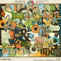 Lucky Boy Digital Scrapbooking Kit - Children Kids Boys