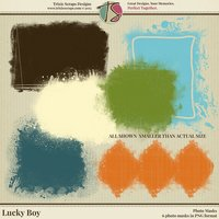 Lucky Boy Digital Scrapbooking Photo Masks - Children Kids Boys